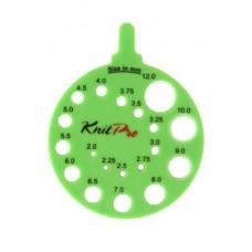 Линейка круглая для определения номера спиц, KnitPro, 10992