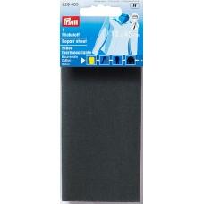 Заплатка термоклеевая, 100%хлопок, 30x10см, серый, 1шт в блистере 929403