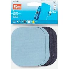 Заплатка при помощи утюга/для пришивания 9х8 см, голуб/т-синий цв,2шт,100%хб 929290