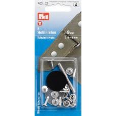 403152 Клепки, латунь, нержавеющие, д/толщины материала 6-9мм, серебристый, 8шт в блист