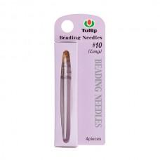 Иглы ручные для бисера 0,45*51мм (№10), сталь, Tulip, TBN-001e