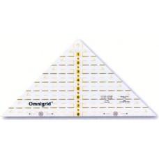 611640 Проворный треугольник с дюймовой шкалой, для1/4квадрата до 8дюймов, 1шт