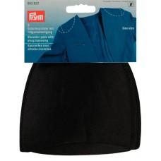 Накладки плечевые реглан с липучкой под бретель, без размера, 115*125*10мм, черный, 100%полиа 993922
