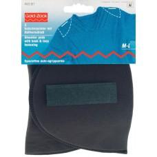 Накладки плечевые полумесяц с липучкой, размерM-L, 160*115*15, черный, 100%полиамид, 2шт на 993817