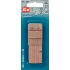 Застежка для бюстгальтера с защитой для кожи, 2 крючка 30 мм телесный цв. 992037