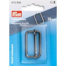Застежка-пряжка для сумок, рюкзаков, ширина 30мм, сталь, оружейного металла, Prym, 615808