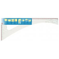 611499 Лекало портновское многофункциональное, для раскроя, 60,5 X 24,5см