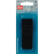 Застежка для бюстгальтера с защитой для кожи, 2 крючка 30 мм черный цв. 992032