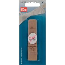 Удлинитель обхвата-Застежка для бюстгальтера, 19мм, с защитой д/кожи, беж, 1шт на блистере 992122