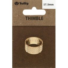 Наперсток Кольцо, диаметр 17,5мм, сталь, золотистый, Tulip, SN-007e