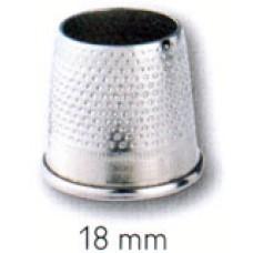 431314 Наперсток, 18мм, серебристый, без донышка, сталь, без упаковки