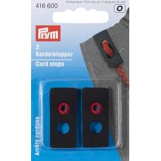 416600 Ограничители для шнура с 2-мя отверстиями и резиновой спиралью, Prym