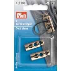 Ограничители для шнура прямоугольные, с двумя отвестиями 9,7*26мм, металл, Prym, 416665