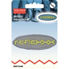 Термоаппликация самоклеящаяся при помощи утюга, особо тонкие, 26*76мм, reflex овальный 925504