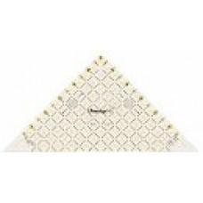 611641 Проворный треугольник с дюймовой шкалой, для1/2квадрата до 6дюймов, 1шт
