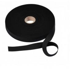 Эластичная лента-прочная(резинка), 50м, 30мм, черная, 81%пол, 19%эл, кассета 955144