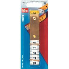 282175 Измерительная лента с сантиметровой и дюймовой шкалой, Профи с металлической пластиной, 0,5*