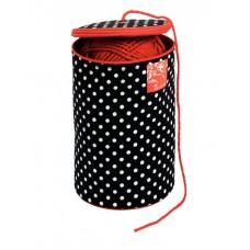 Футляр для пряжи Polka dots диаметр 14,5см, высота 21,5см, Prym, 610677