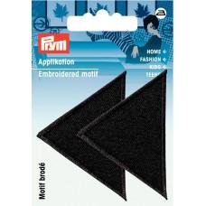 Термоаппликация Треугольники 60*40мм, большие, черный цв. 925466