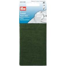 Ткань для заплаток, хлопок (для приутюживания) 30x10 см хаки цв.1шт 929399
