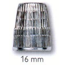 431844 Наперсток, 16мм, цинк, хром.покрытие, серебристый, с кантом против скольжения, без упаковки