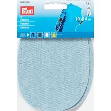 Заплатки термоклеевые, джинсовые, светло-голубой, 100%хлопок, 2шт в блистере 929300