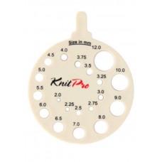 Линейка круглая для определения номера спиц, KnitPro, 10991