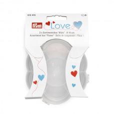 Серия Prym Love - Бокс для хранения Цветок, диаметр 10см, пластик, прозрачный, Prym, 612415
