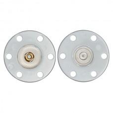 Кнопки пришивные, диаметр 25мм, металл/пластик, прозрачный, Union Knopf by Prym, 0019630025001001