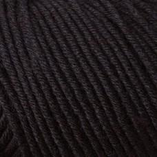*  Merino Extrafine Cotton 120 пряжа Schachenmayr original, COATS, 9807342 (00599, *, schwarz, черный)