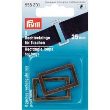 Прямоугольные кольца для сумок, размер 25мм , Prym, 555301