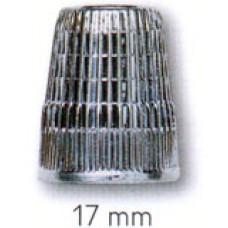 Наперсток, 17мм, цинк, хром.покрытие, серебристый, с кантом против скольжения, без упаковки 431842