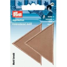 Термоаппликация Треугольники 60*40мм, большие, темно-бежевый цв. 925475
