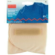 Накладки плечевые полумесяц с липучкой, размерM-L, 160*115*15, телесный, 100%полиамид, 2шт н 993816