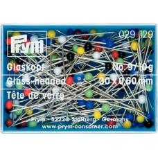 Булавки со стеклянными головками для шитья, термоустойчивые 30*0,60мм, Prym, 029129