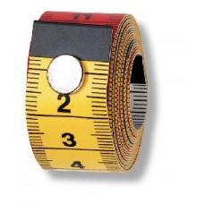 282460 Измерительная лента с сантиметровой шкалой, Колор Плюс с кнопкой, 0,5*19*150см, желтый/цветн