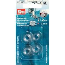 Шпульки (пластик) для горизонтально вращающегося челнока 21, 2 мм,  прозрачные, 610363