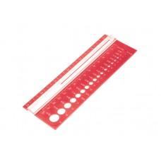 Линейка для определения размера спиц и плотности вязания, KnitPro, 10701