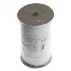 Эластичная лента-прочная(резинка), 100м, 15мм, белая, 83%пол, 17%эл, руллон 955126