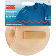 Накладки плечевые реглан с липучкой, размерS, 110*100*11мм, телесный, 100%полиамид, 2шт на б 993831