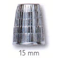 Наперсток, 15мм, цинк, хром.покрытие, серебристый, с кантом против скольжения, без упаковки 431845
