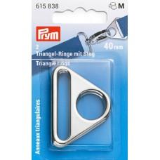 Треугольные кольца 40мм, сплав цинка, серебристый, 2шт в упаковке, Prym, 615838