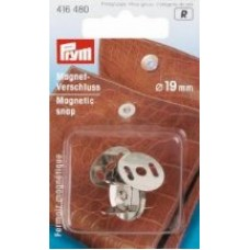 Магнитная застежка д/сумок, косметичек, рюкзаков, 19мм, состаренной латуни, 1шт в блистере 416482