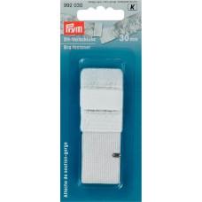 Застежка для бюстгальтера с защитой для кожи, 2 крючка 30 мм белый цв. 992030