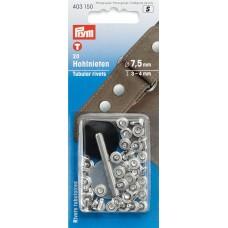 Клепки, латунь, нержавеющие, д/толщины материала 3-4мм, серебристый, 20шт в блис 403150