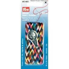 610650 Дорожная Коса из нитей для шитья с иглой и нитевдевателем, длина 60см, Prym