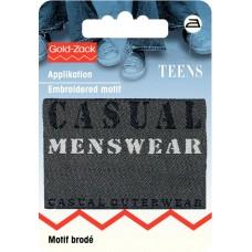 Термоаппликация прямоугольный джинсовый ярлык черного цв. Casual Menswear 925650