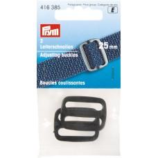 Пряжка регулировочная, пластик, 25 мм, черный цв. 416385