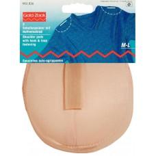 Накладки плечевые реглан с липучкой, размерM-L, 115*150*11мм, телесный, 100%полиамид, 2шт на 993836