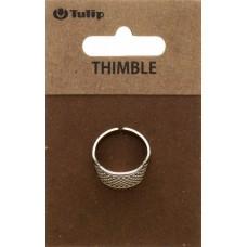Наперсток Кольцо, регулируемый, сталь, серебристый, Tulip, SN-008e